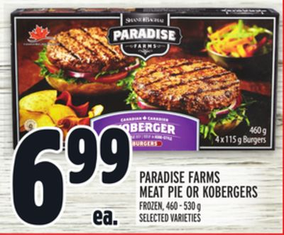 Paradise Farms Meat Pie Or Kobergers