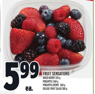 Fruit Sensations Mixed Berry - Pineapple - Pineapple Berry - Deluxe Fruit Salad