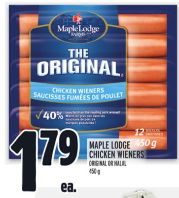 Maple Lodge Chicken Wieners Original Or Halal