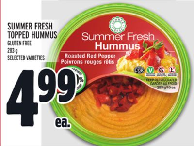 Summer Fresh Topped Hummus Gluten Free
