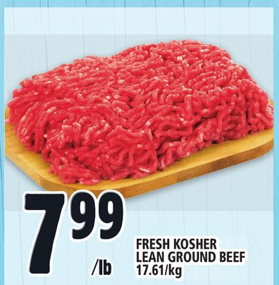 Fresh Kosher Lean Ground Beef