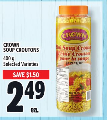 Crown Soup Croutons
