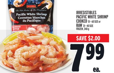 Irresistibles Pacific White Shrimp Cooked or Raw