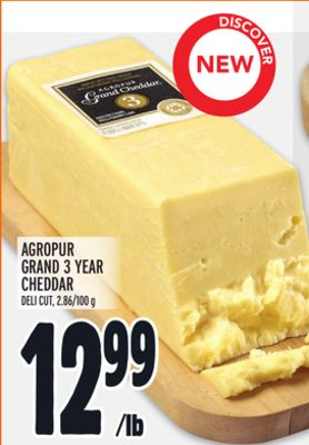 Agropur Grand 3 Year Cheddar