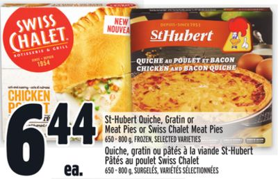 St-hubert Quiche - Gratin or Meat Pies or Swiss Chalet Meat Pies