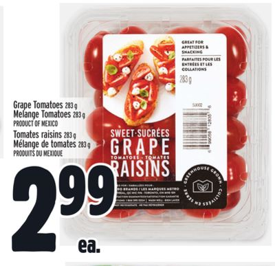 Grape Tomatoes 283 g Melange Tomatoes 283 g