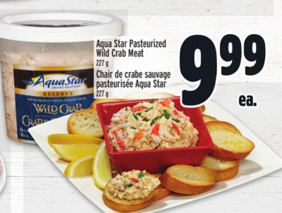 Aqua Star Pasteurized Wild Crab Meat