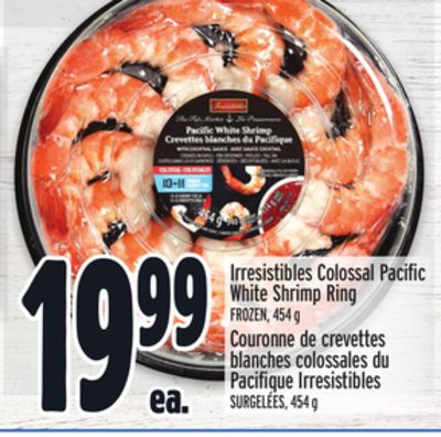 Irresistibles Colossal Pacific White Shrimp Ring