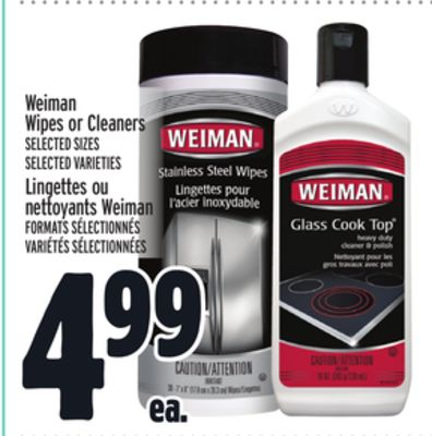 Weiman Wipes or Cleaners