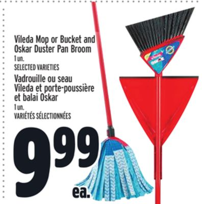 Vileda Mop or Bucket and Oskar Duster Pan Broom
