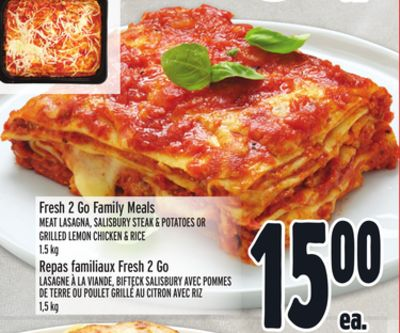 Fresh 2 Go Family Meals