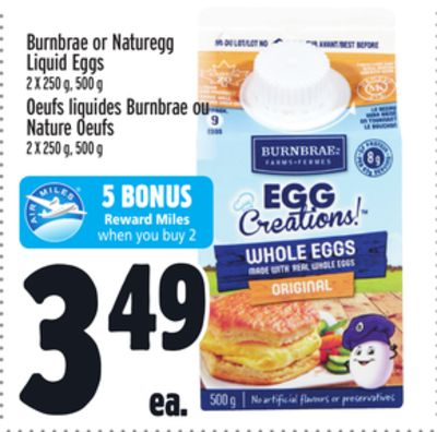 Burnbrae or Naturegg Liquid Eggs