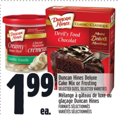 Duncan Hines Deluxe Cake Mix or Frosting