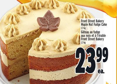 Front Street Bakery Maple Nut Fudge Cake