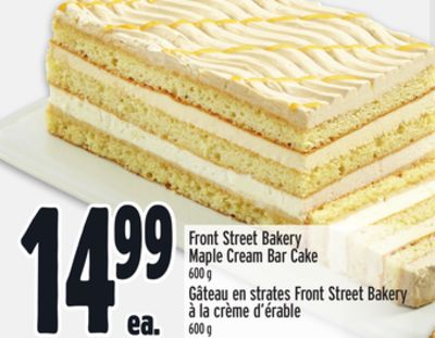 Front Street Bakery Maple Cream Bar Cake