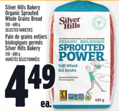 Silver Hills Bakery Organic Sprouted Whole Grains Bread