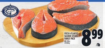 Fresh Atlantic Salmon Steaks Family Pack