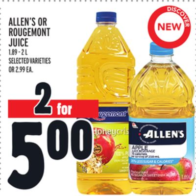 Allen's Or Rougemont Juice