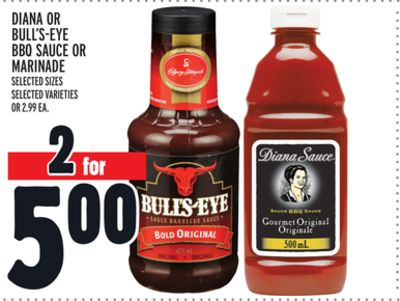 Diana Or Bull's-eye Bbq Sauce Or Marinade