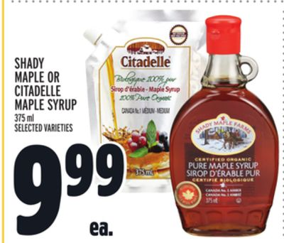 Shady Maple Or Citadelle Maple Syrup