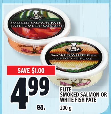 Elite Smoked Salmon Or White Fish Paté