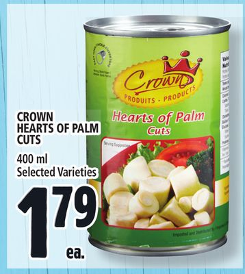 Crown Hearts Of Palm Cuts