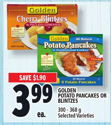 Golden Potato Pancakes Or Blintzes
