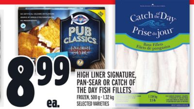 High Liner Signature - Pan-sear Or Catch Of The Day Fish Fillets