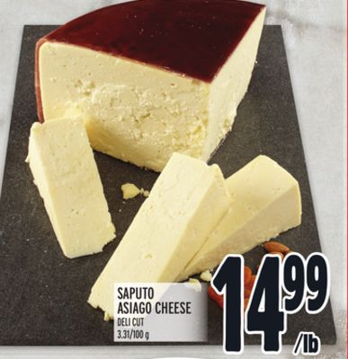Saputo Asiago Cheese