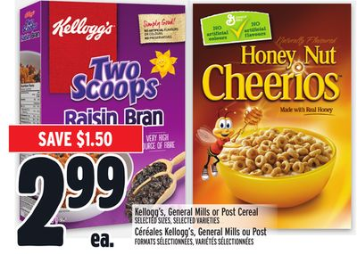 Kellogg's - General Mills or Post Cereal