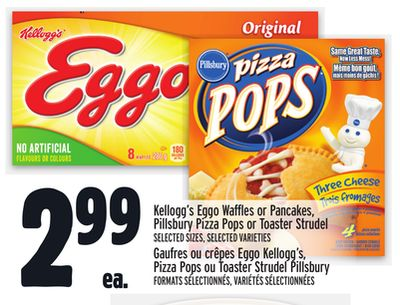 Kellogg's Eggo Waffles or Pancakes - Pillsbury Pizza Pops or Toaster Strudel