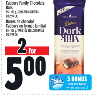 Cadbury Family Chocolate Bars
