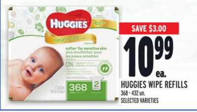 Huggies Wipe Refills