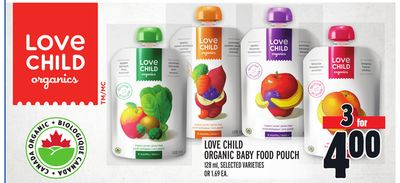Love Child Organic Baby Food Pouch