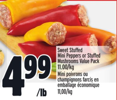 Sweet Stuffed Mini Peppers or Stuffed Mushrooms Value Pack