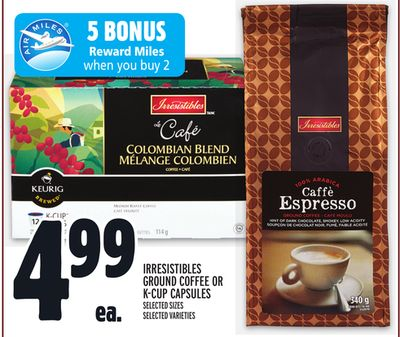 Irresistibles Ground Coffee Or K-cup Capsules