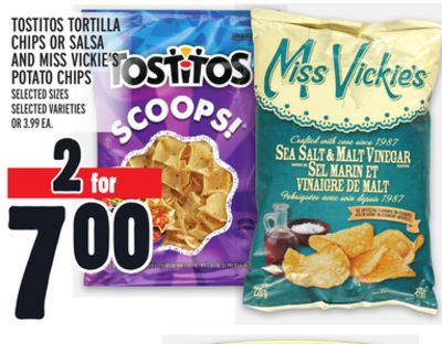 Tostitos Tortilla Chips Or Salsa And Miss Vickie's Potato Chips