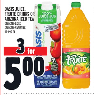 Oasis Juice - Fruité Drinks Or Arizona Iced Tea