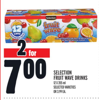 Selection Fruit Wave Drinks