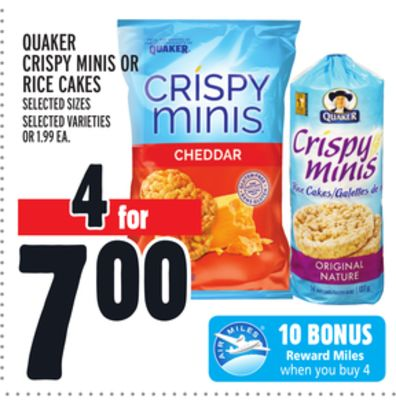 Quaker Crispy Minis Or Rice Cakes