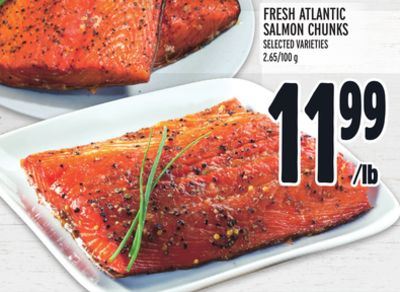 Fresh Atlantic Salmon Chunks
