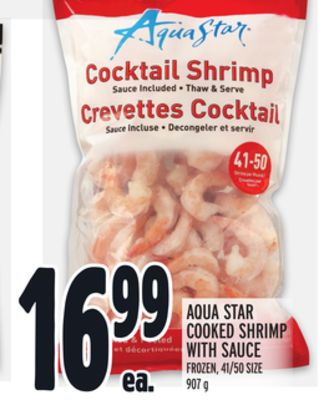 Aqua Star Cooked Shrimp With Sauce