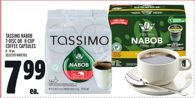 Tassimo Nabob T-disc Or K-cup Coffee Capsules