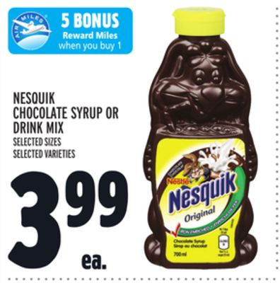 Nesquik Chocolate Syrup Or Drink Mix