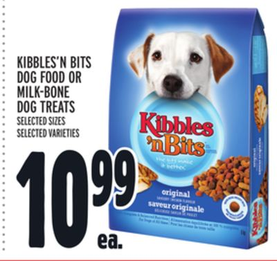 Kibbles'n Bits Dog Food Or Milk?bone Dog Treats