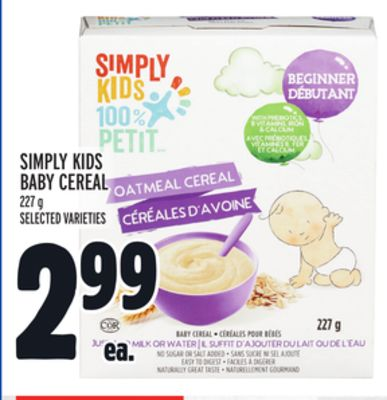 Simply Kids Baby Cereal