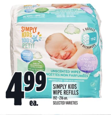 Simply Kids Wipe Refills