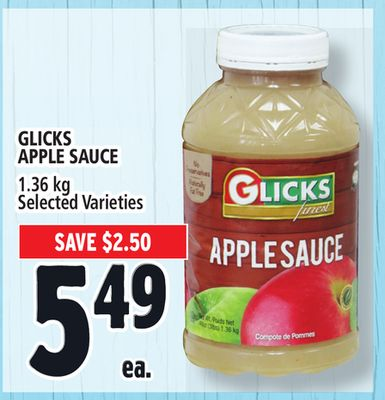 Glicks Apple Sauce