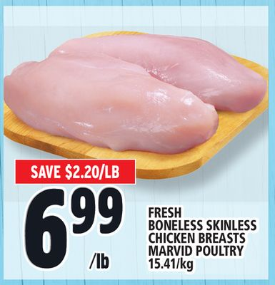 Fresh Boneless Skinless Chicken Breasts Marvid Poultry
