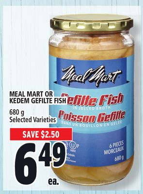 Meal Mart Or Kedem Gefilte Fish